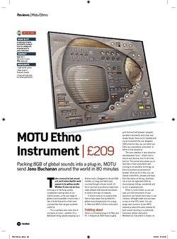 Future Music MOTU Ethno Instrument