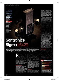 Future Music Sontronics Sigma