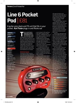 Future Music Line 6 Pocket Pod