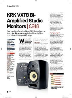 Future Music KRK VXT8 BiAmpli?ed Studio Monitors