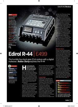 Future Music Edirol R44