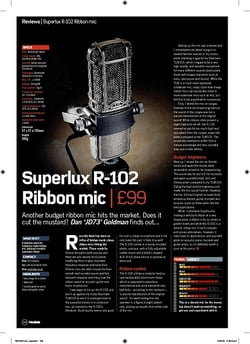 Future Music Superlux R102 Ribbon mic