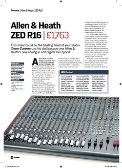 Future Music Allen and Heath  ZED R16