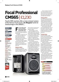 Future Music Focal Professional CMS65