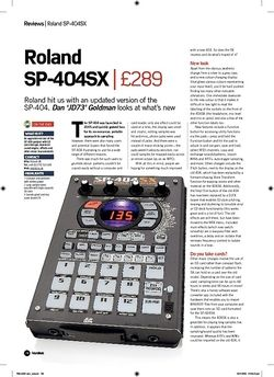 Future Music Roland SP404SX