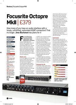 Future Music Focusrite Octopre MkII