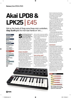 Future Music Akai LPD8