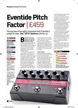 Future Music Eventide Pitch Factor