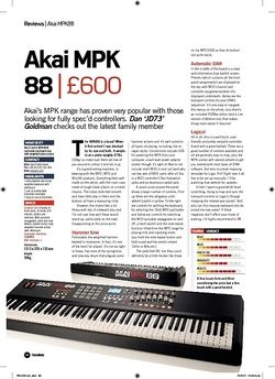 Future Music Akai MPK 88