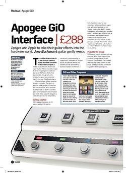 Future Music Apogee GiO Interface