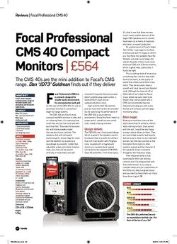 Future Music Focal Professional CMS 40 Compact Monitors