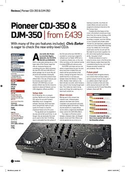 Future Music Pioneer CDJ350 and DJM350