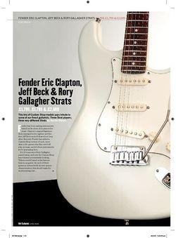 Guitarist Jeff Beck Signature Strat