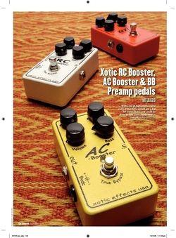 Guitarist Xotic AC Booster