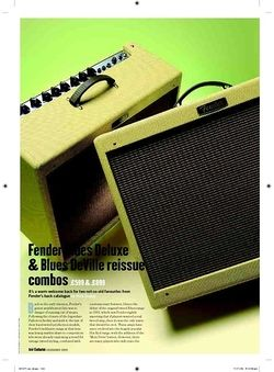 Guitarist Fender Blues DeVille reissue combo