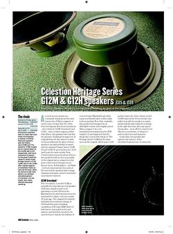 Guitarist Celestion Heritage Series G12M speakers
