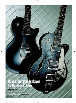 Guitarist Duesenberg Starplayer TV Outlaw