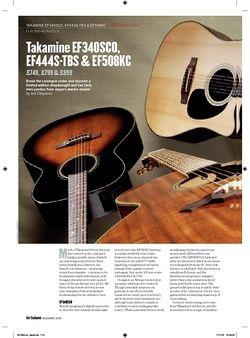 Guitarist Takamine EF508KC
