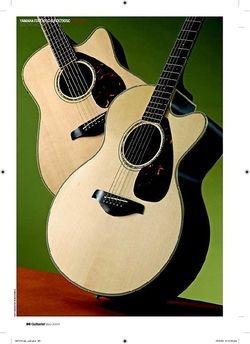 Guitarist Yamaha FGX730SC