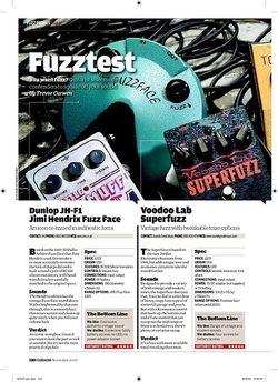 Guitarist Dunlop JHF1 Jimi Hendrix Fuzz Face
