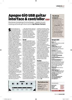 Guitarist Apogee GiO USB guitar interface and controller