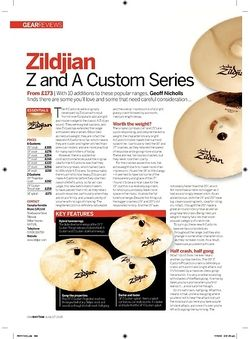 Rhythm Zildjian Z and A Custom Series