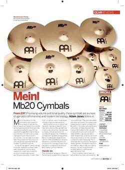 Rhythm Meinl  Mb20 Cymbals