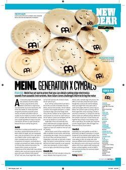 Rhythm Meinl Generation X Cymbals