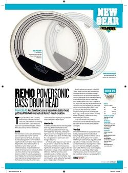 Rhythm REMO POWERSONIC Bass drum head
