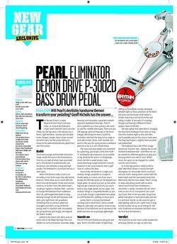 Rhythm PEARLELIMINATOR DEMONDRIVEP3002D BASSDRUMPEDA