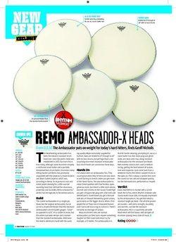 Rhythm Remo Ambassador X Heads