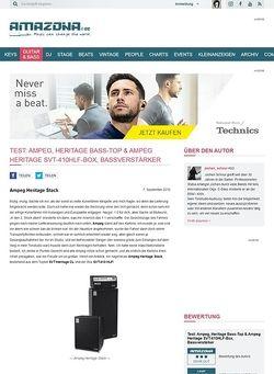 Amazona.de Test: Ampeg, Heritage Bass-Top & Ampeg Heritage SVT-410HLF-Box, Bassverstärker