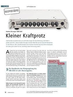 Soundcheck Test: Gallien-Krueger MB-500