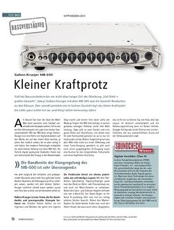 Soundcheck Test: Gallien-Krueger MB-500