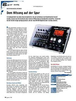 Guitar gear Recording - Boss BR-800 Digital Recorder