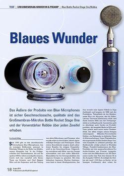Professional Audio Blaues Wunder Blue Bottle Rocket Stage One/Robbie