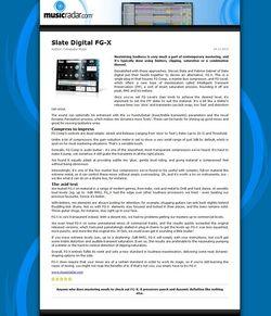 MusicRadar.com Slate Digital FG-X