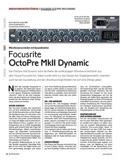 KEYS Focusrite OctoPre MkII Dynamic