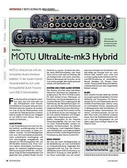KEYS MOTU UltraLite-mk3 Hybrid