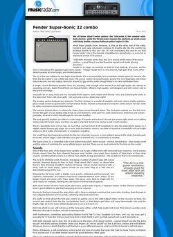 MusicRadar.com Fender Super-Sonic 22 combo