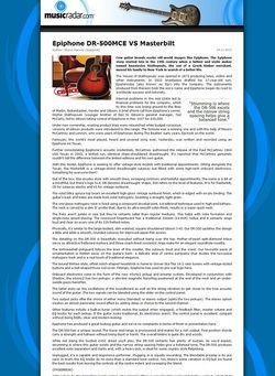 MusicRadar.com Epiphone DR-500MCE VS Masterbilt