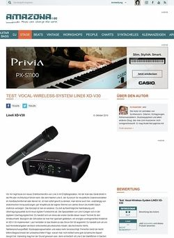 Amazona.de Test: Vocal-Wireless-System LINE6 XD-V30