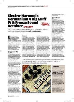 Guitarist Electro-Harmonix Germanium 4 Big Muff Pi