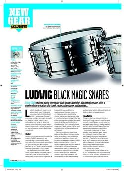 Rhythm LUDWIG BLACK MAGIC SNARES