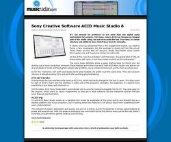 MusicRadar.com Sony Creative Software ACID Music Studio 8