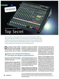 Soundcheck Test: Dynacord PowerMate 1000-3 - Top Secret