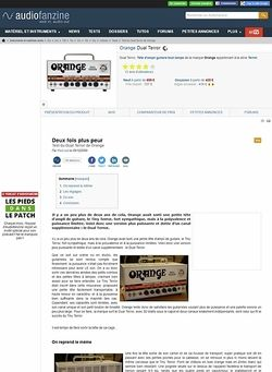 Audiofanzine.com Orange Amps Dual Terror