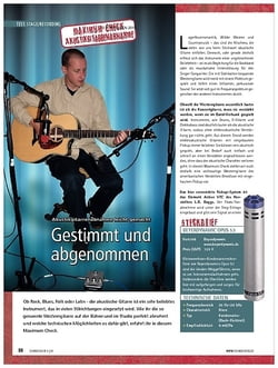 Soundcheck Maximum Check: Akustikgitarrenabnahme leicht gemacht - Gestimmt und abgenommen