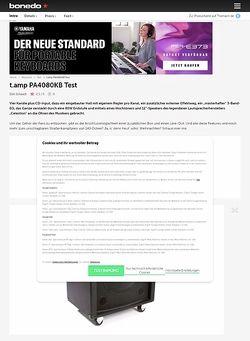Bonedo.de t.amp PA4080KB