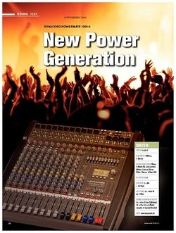 Tastenwelt Test: Dynacord Powermate 1000-3 - New Power Generation